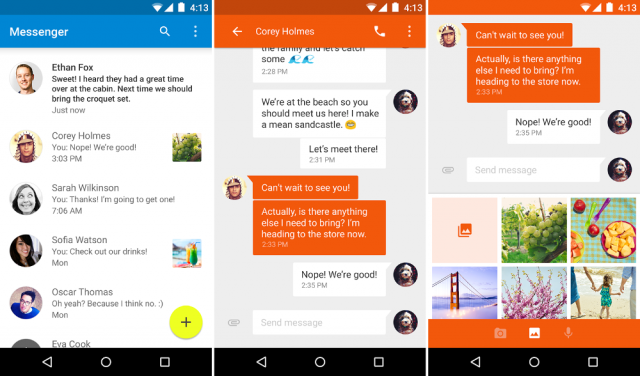 Discover The New Google Lollipop Messenger App For Android