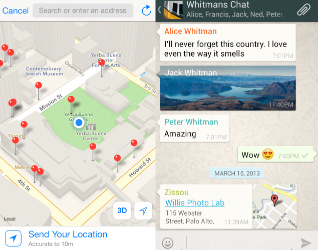 How To Share Location With Whatsapp Android
