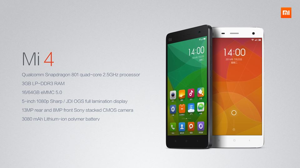 Xiaomi's Mi4 Specifications And Features