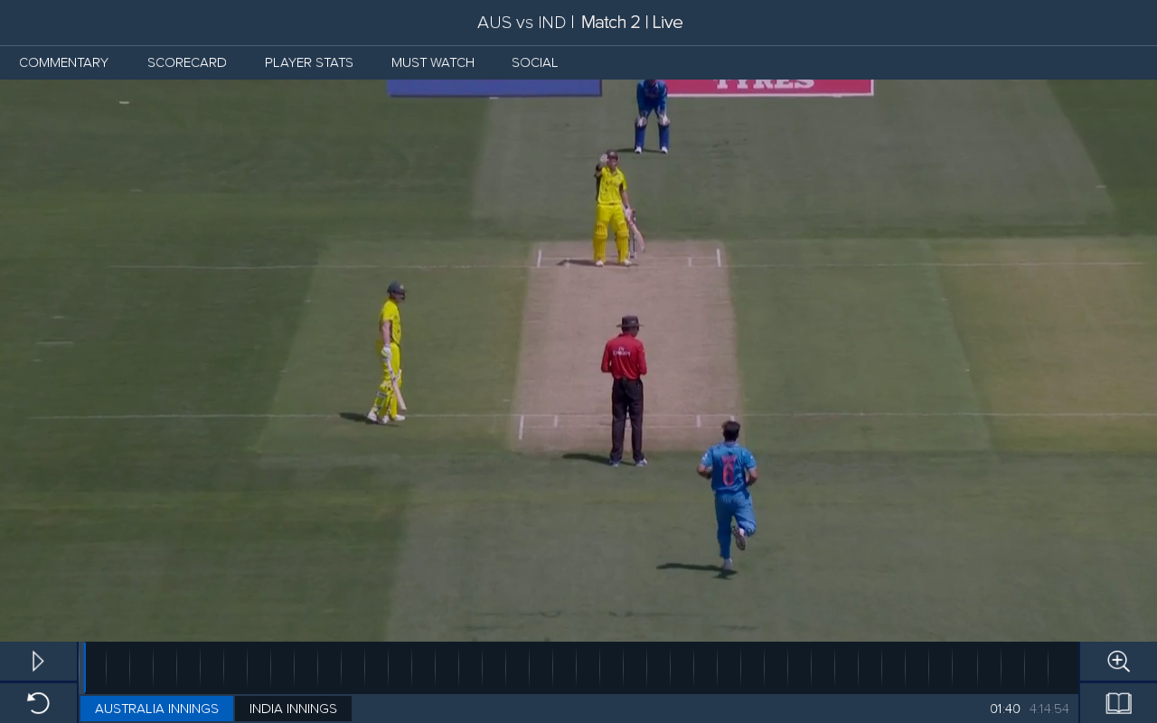 how to watch live cricket on optus sport app