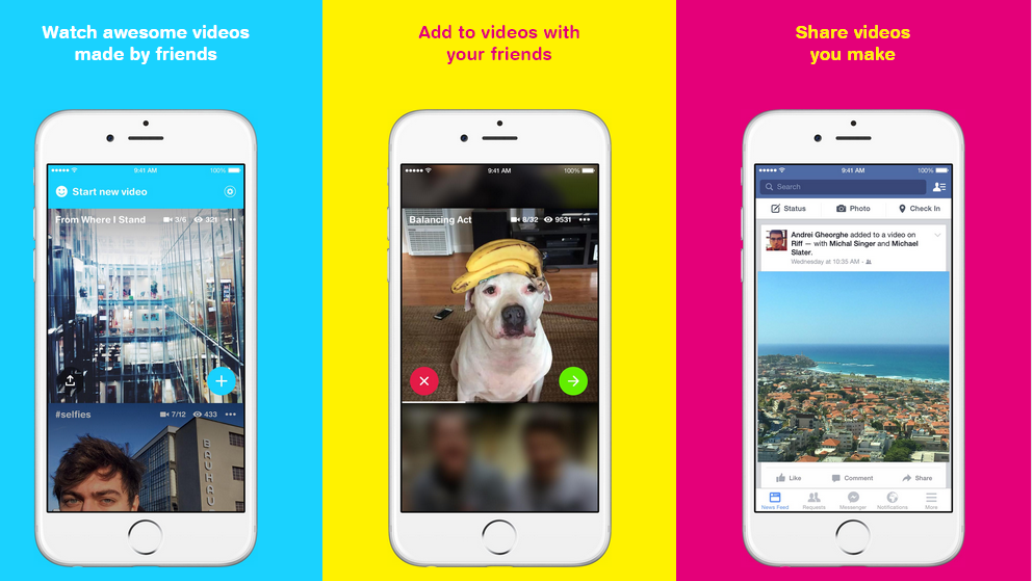 "Make & Share Fun Video Clips With Friends By Facebook's Newest App ""Riff"""