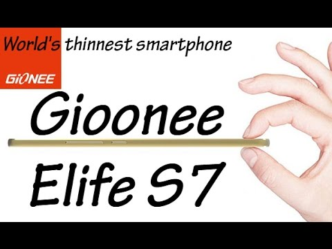 Gionee's Latest Slim Smartphone Elife S7 Specifications & Price